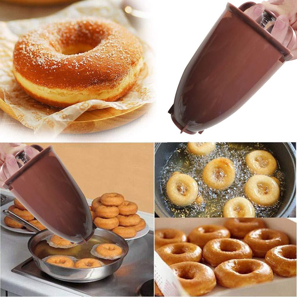 AMhomely 2019 Donut Machen Werkzeug//DIY Backwerkzeug Neu!Kunststoff Donut Maker Maschine Schimmel DIY Tool K/üche Geb/äck Machen Backformen Braun