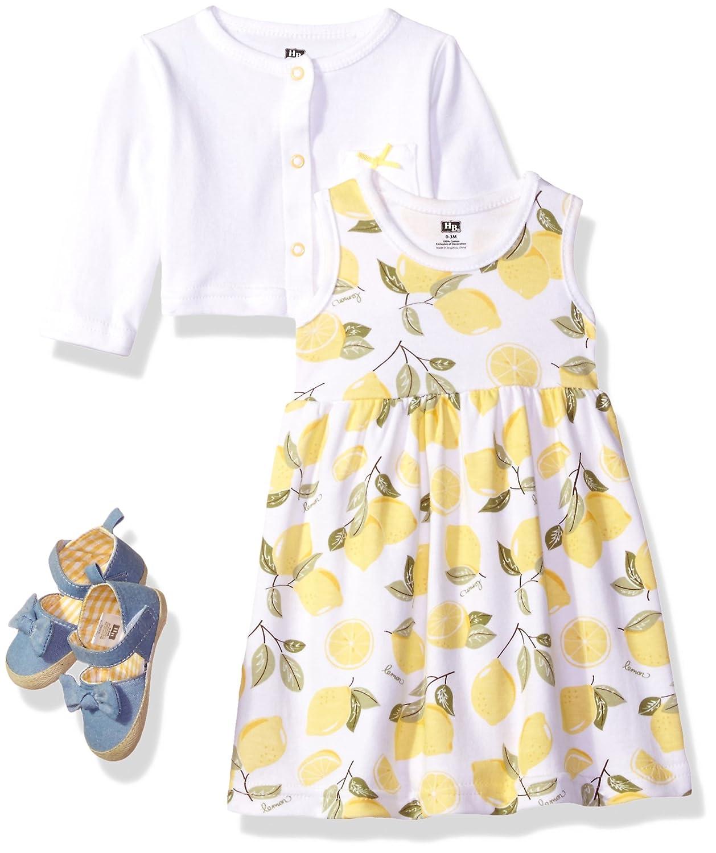 Hudson Baby Baby-Girls Baby 3 Piece Dress, Cardigan, Shoe Set 55206S