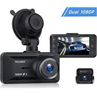 Toguard 1080P Dual Dash Cam for Cars Driving Recorder