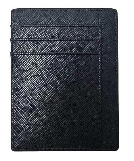 369bb4daa4c Aonal Mens Slim RFID Blocking Front Pocket Card Wallet at Amazon ...