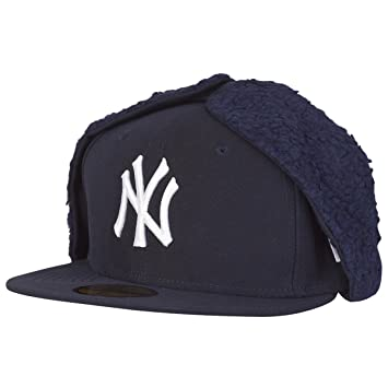 New Era 59Fifty DOG EAR Winter Cap - NY Yankees navy  Amazon.co.uk ... 704e3786cfe