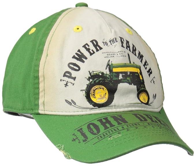 John Deere -Gorra de béisbol Hombre Verde Verde  Amazon.es  Ropa y  accesorios 406249f3013