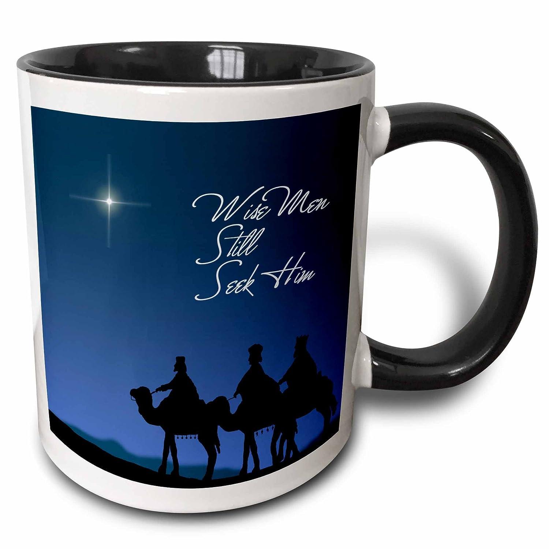 11 oz Multicolor 3dRose 30754/_4 Wise men still seek Him Magi following the Christmas star Two Tone Black Mug