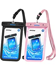 """Mpow Waterproof Case, Universal IPX8 Waterproof Phone Pouch Clear Dry Bag Compatible with iPhone Xs/XS Max/XR/X/8/8 Plus/7/7 Plus, Galaxy S10/S9/S8 Google Pixel and All Devices up to 6.5"""""""