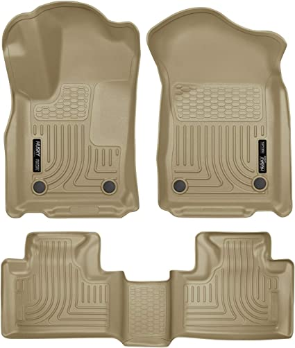 Custom Car Floor Mats for Dodge Durango 2004-2010 All Weather Waterproof Non-Slip Full Covered Protection Advanced Performance Liners Car Liner Black