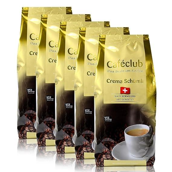 5x Beans Cafeclub super crema Suiza Schümli Café 1kg Cafeteras