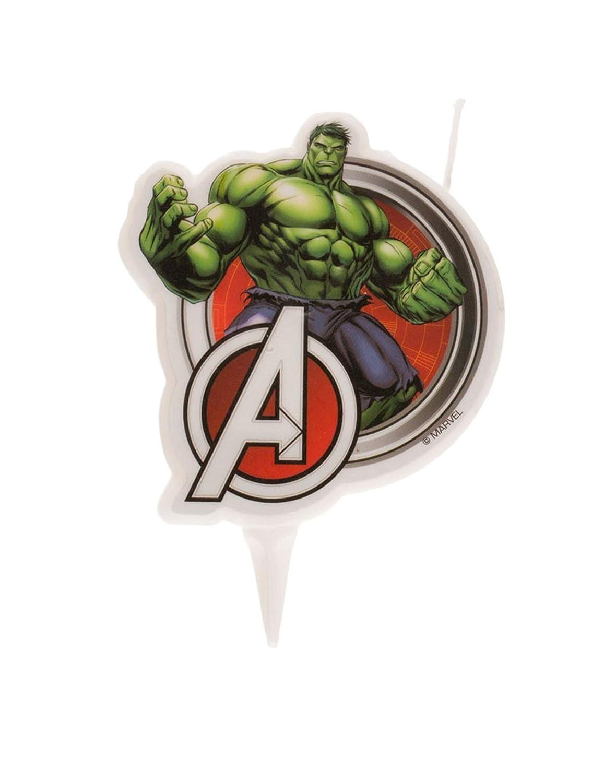 Bougie danniversaire Hulk Avengers 7,5 cm Generique