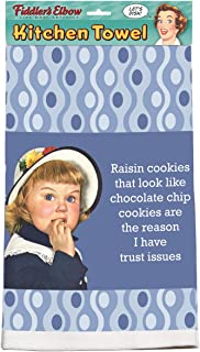 product image for Fiddler's Elbow Raisin Cookies That Look Like Chocolate Chip Cookies are The Reason I Have Trust Issues 100% Cotton, Eco-Friendly Dish Towel