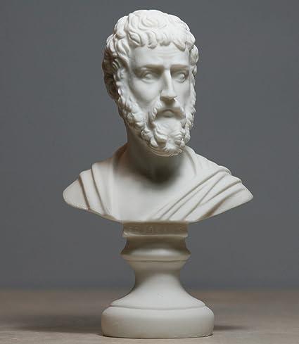 Sófocles griega antigua escritor dramaturgo Busto Escultura de cabeza de estatua de alabastro 6