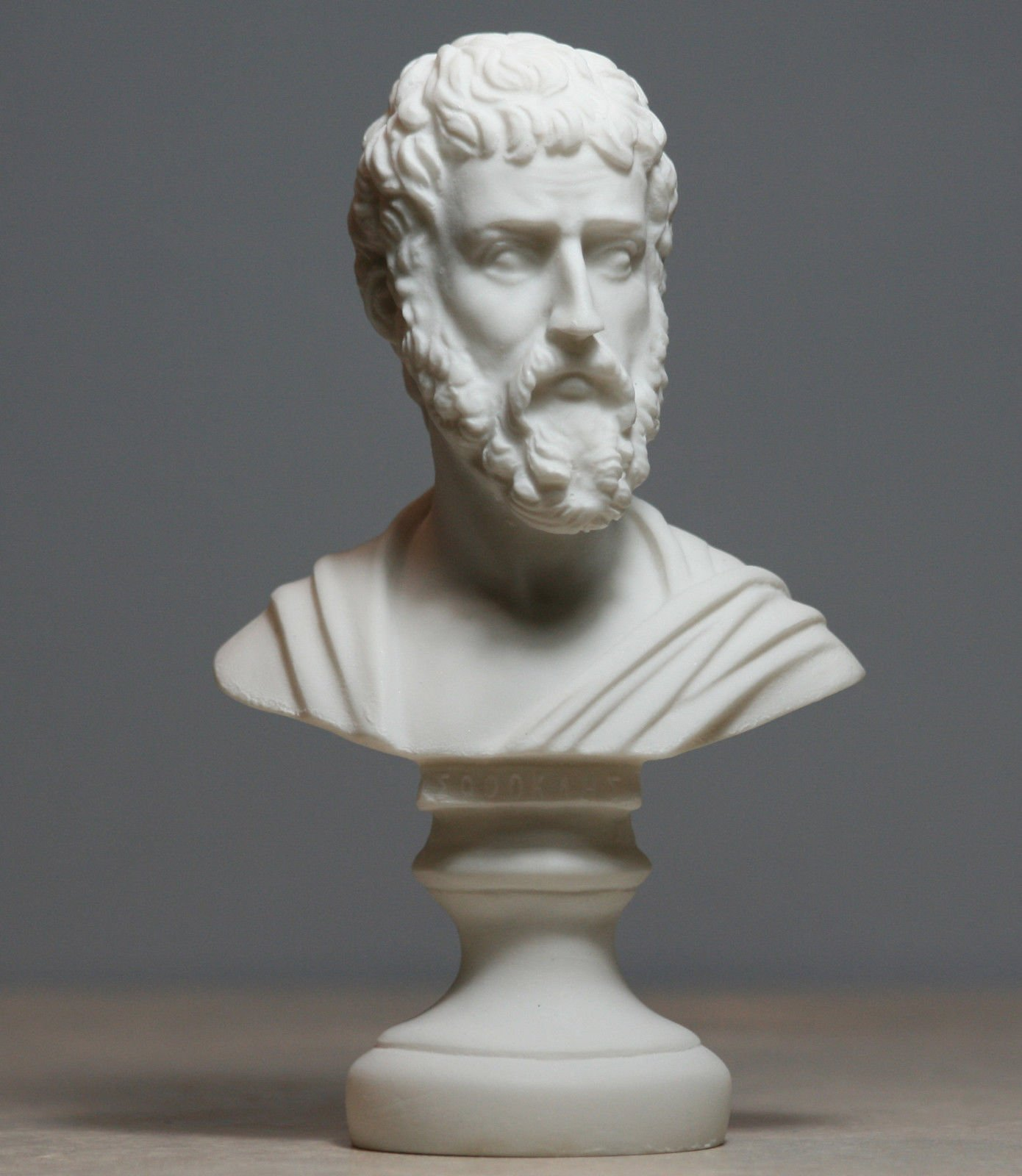 Sophocles Greek Ancient Writer Playwright Alabaster Bust Head Statue Sculpture 6