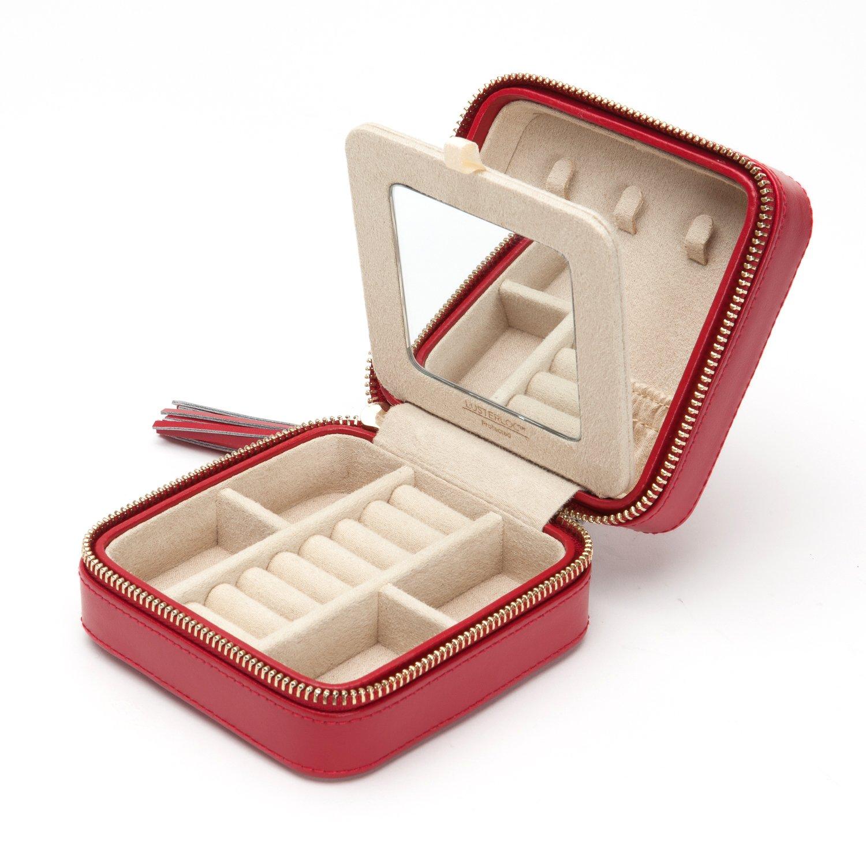 Amazoncom WOLF 329972 Caroline Zip Travel Jewelry Case Red Home