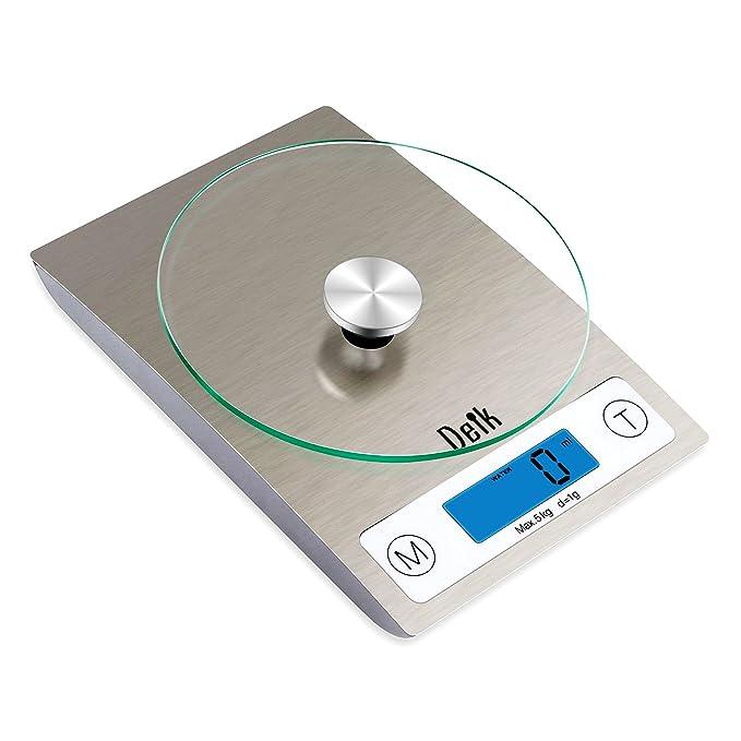 Deik KDS02 digital de cocina y escala del alimento (5 kg/11 libras),Con extraíble de vidrio templado Plataforma: Amazon.es: Hogar