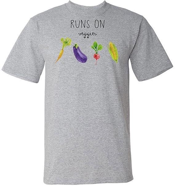 Runs On Veggies Vegan Lifestyle T-Shirt Camiseta Para Hombre: Amazon.es: Ropa y accesorios