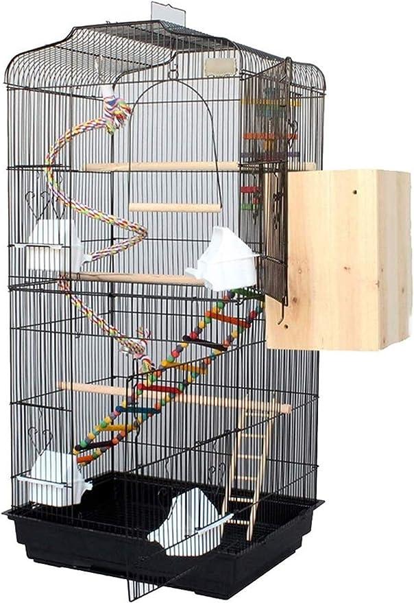 Jaula dpájaros duradera y ecológica, Jaula de vuelo para periquitos de pájaros baratos para periquitos, jaula de pájaros de lujo grande, hierro doméstico, jaula de budgerigar, paloma, pájaro de pájaro