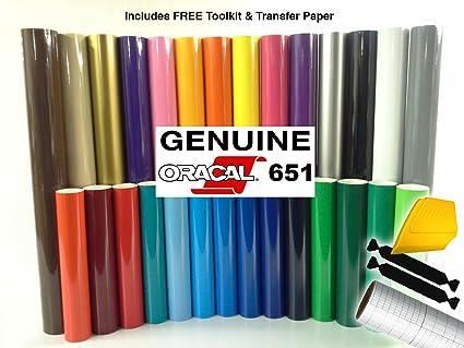 Amazon.com: ORACAL 651 Multi-Color Vinyl Starter Kit Bundle for ...