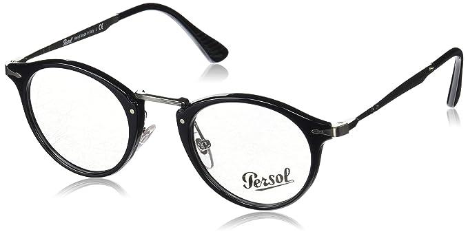 f7b8679c12 Persol Calligrapher Edition Eyeglasses 3167V 3167 V 95 Black Optical Frame  47mm