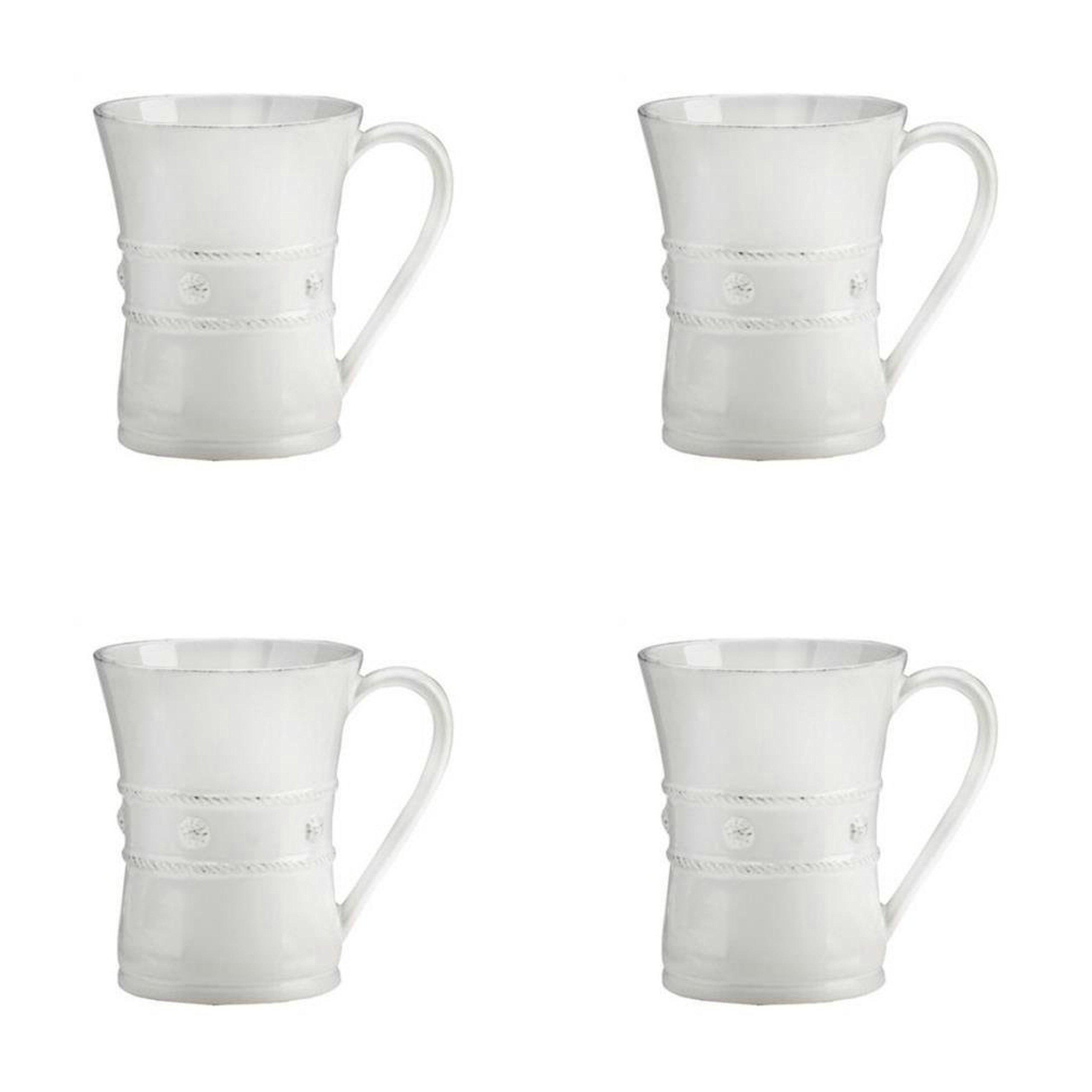 Juliska Berry & Thread 13 oz Coffee Mug, Whitewash (4)
