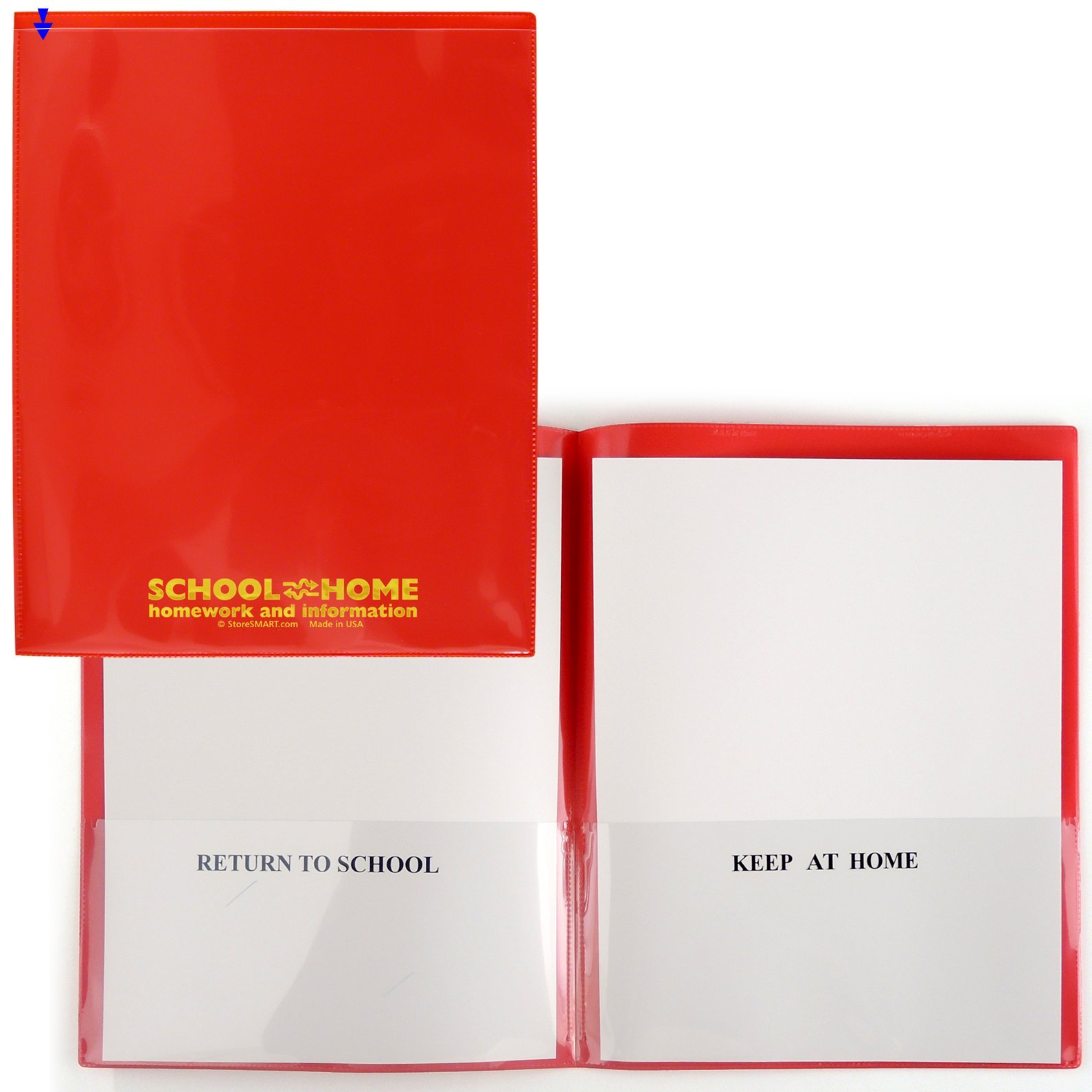 StoreSMART - School / Home Folders - Red - 50-Pack - Archival Durable Plastic - Homework and Information - SH900SV-R50