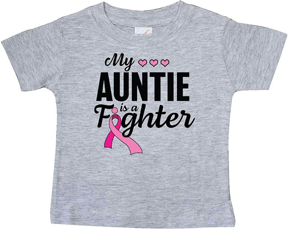 inktastic Breast Cancer Awareness My Auntie is a Fighter Baby T-Shirt