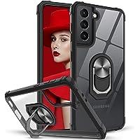 LeYi Funda Samsung Galaxy S21 5G,Transparente Case con 360 Grados iman Soporte Silicona Bumper Carcasa Antigolpes Armor…