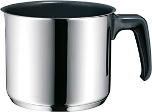 WMF Milk Pot Ø 14 cm Approx. l Pouring Rim Cromargan Stainless Steel Brushed Suitable for All Stove Tops Including Induction Dishwasher-Safe