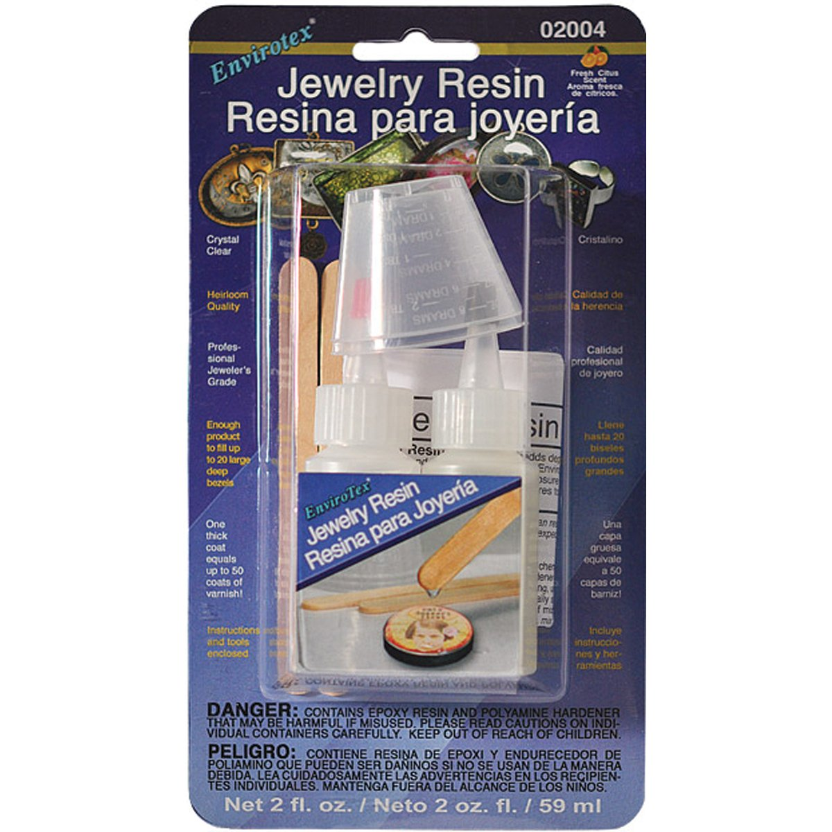 Environmental Envirotex Jewelry Resin Kit 2 Ounces ENVORONMENTAL TECHNOLOGY 02004