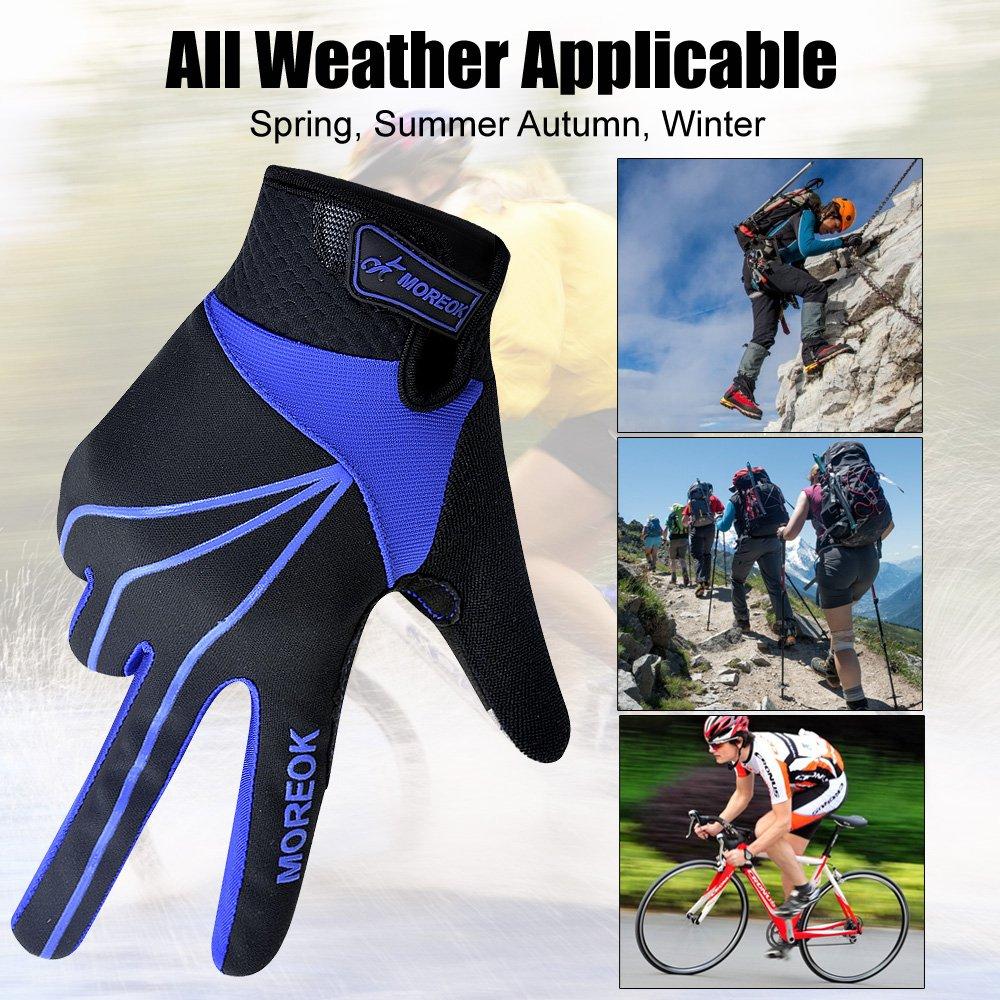 Windproof Gel Warm Gloves Riding Driving Running MATT SAGA Touch Screen Gloves Men Women Winter Cycling Gloves Breathable Full Finger Bike Bicycle Gloves