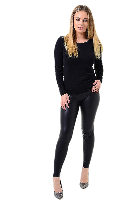 a12fddce97047 Ex Dorothy Perkins Ladies Leather Look Leggings Womens Wet Look Trousers  Pants (18) Black: Amazon.co.uk: Clothing