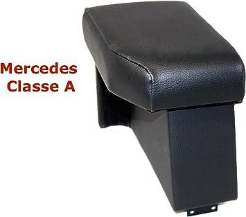 MERCEDES CLASSE A W169 bracciolo portaoggetti ecopelle nero appoggiabraccio