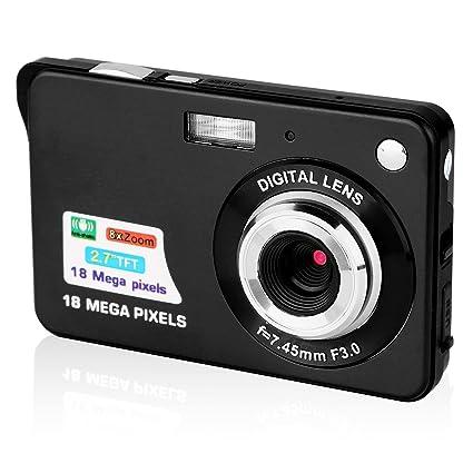 Máquina fotográfica compacta, STOGA Dfun C3, Pantalla de 2,7 Pulgadas TFT LCD