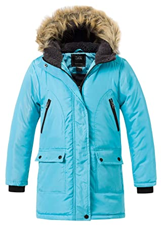 ZSHOW Boy s and Girl s Padded Winter Puffer Jacket Mid-Long Thicken Warm  Hooded Outwear Coat 9fb49c07b
