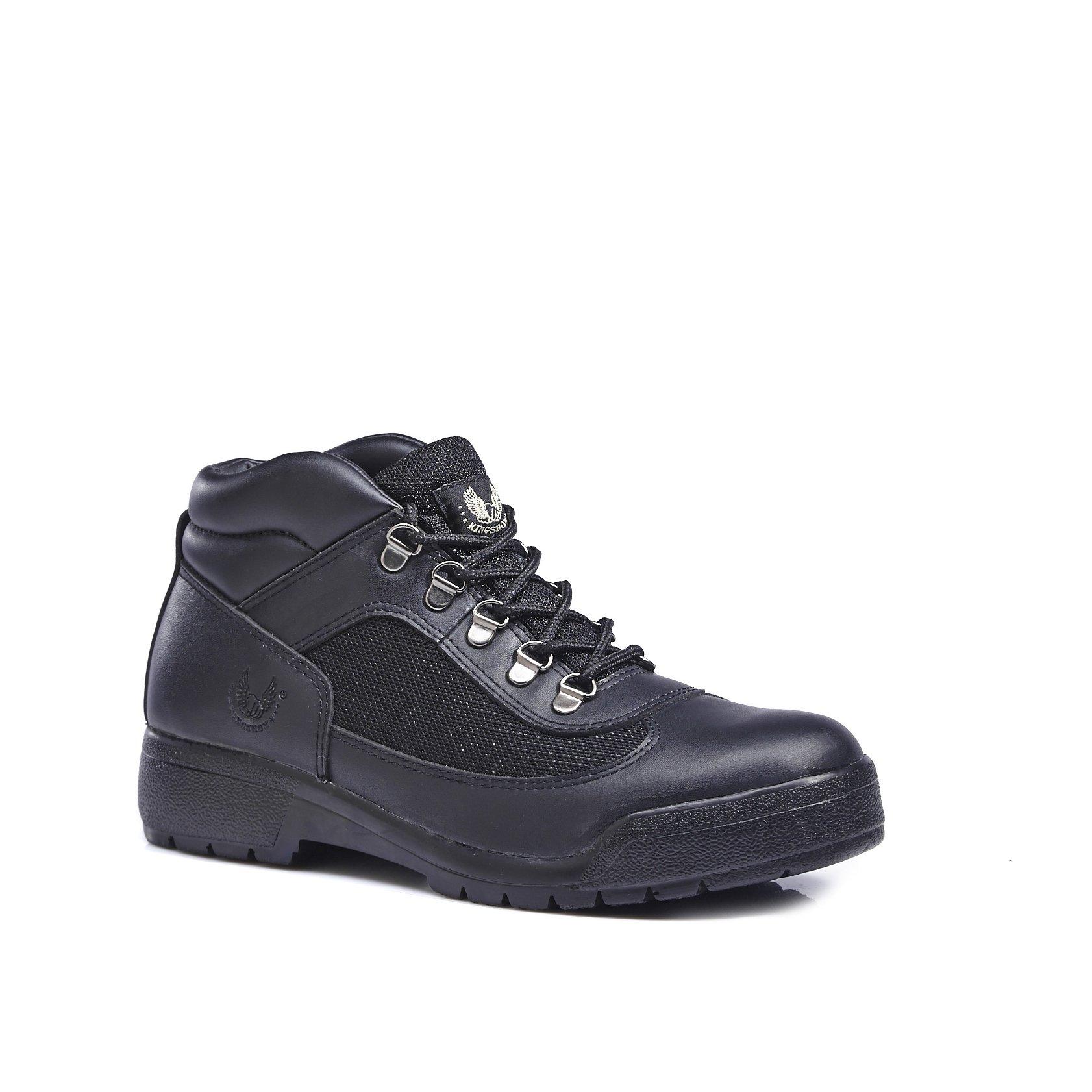 KINGSHOW Men's Classic Work Boots (8.5 M US Men's, Black)