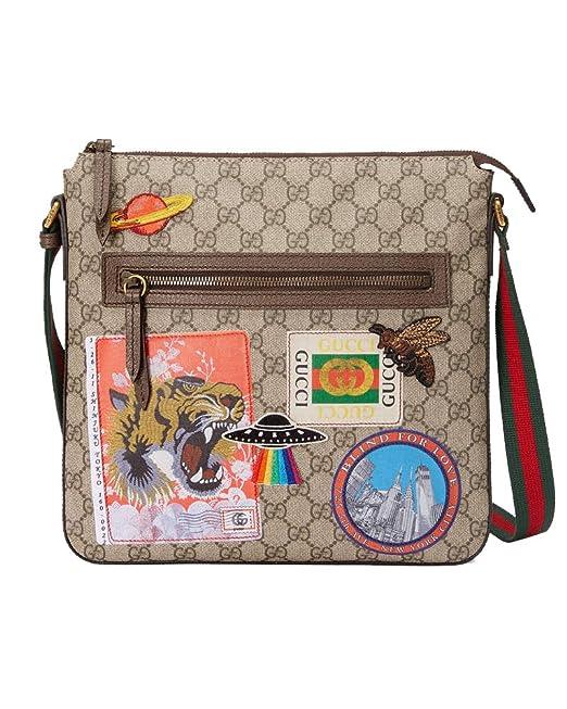 più economico 677a0 d185c Gucci Borsa Messenger Uomo 406408K9RNT8967 Pelle Beige ...