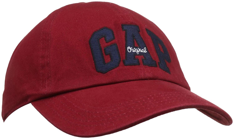 7ee4a45fa80 GAP Men s Baseball Cap (33838413100 Burgundy OneSize)  Amazon.in  Clothing    Accessories