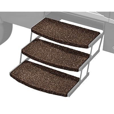 Prest-O-Fit 3-Pack 2-4047 Wraparound Radius RV Step Rug Espresso 22 in. Wide: Automotive