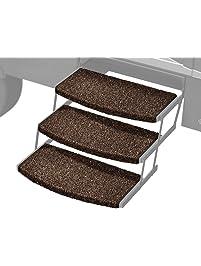 "Prest-O-Fit 2-4047 Espresso 22"" Wide Wraparound Radius RV Step Rug, 3 Pack,"