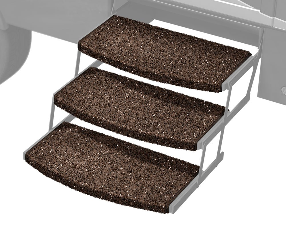 3 Pack 3 Pack Prest-O-Fit 2-4047 Espresso 22 Wide Wraparound Radius RV Step Rug