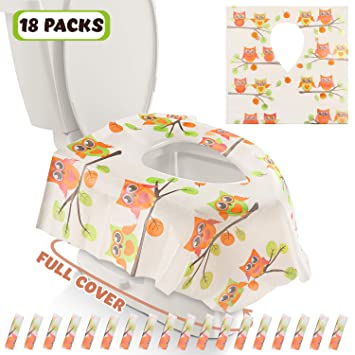 Individually Wrapped By Disposable XL Potty Seat Covers Toilet Seat Covers