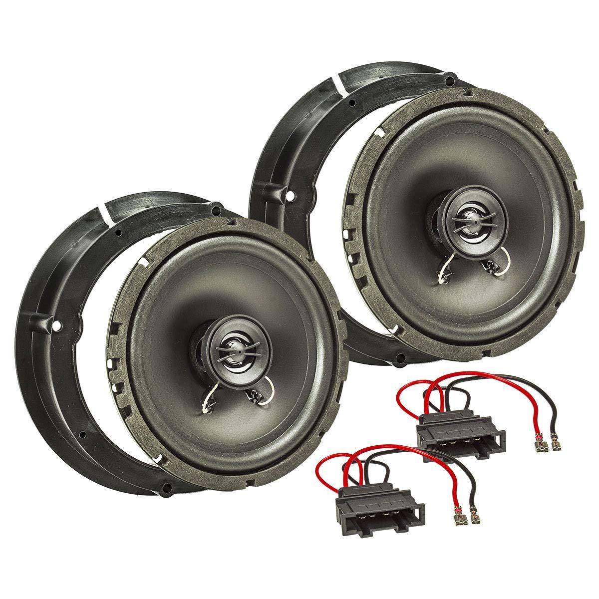tomzz Audio 4057 – 001 Altavoz Set de instalación para Volkswagen Golf IV, Passat 3BG, Polo 9 N 6R, Beetle 9 C Frontal para Puerta 165 mm