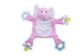 Snuggin - The Comforting Day and Night Lovey Miracle for Babies (Pink Elephant) - Pacifier Holder is a Magical Baby Sleep Aid