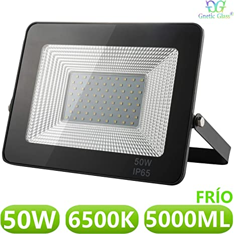 Foco LED exterior Floodlight 50W GNETIC GLASS Proyector Negro ...