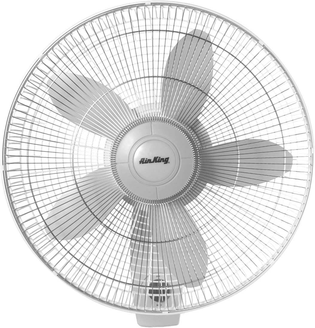 Air King 9018 Commercial Grade Oscillating Wall Mount Fan, 18-Inch