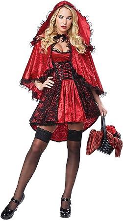 Generique - Disfraz Caperucita Roja Sexy Mujer S: Amazon.es ...