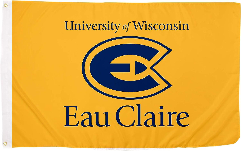 Desert Cactus University of Wisconsin Eau Claire UWEC Blugolds NCAA 100% Polyester Indoor Outdoor 3 feet x 5 feet Flag