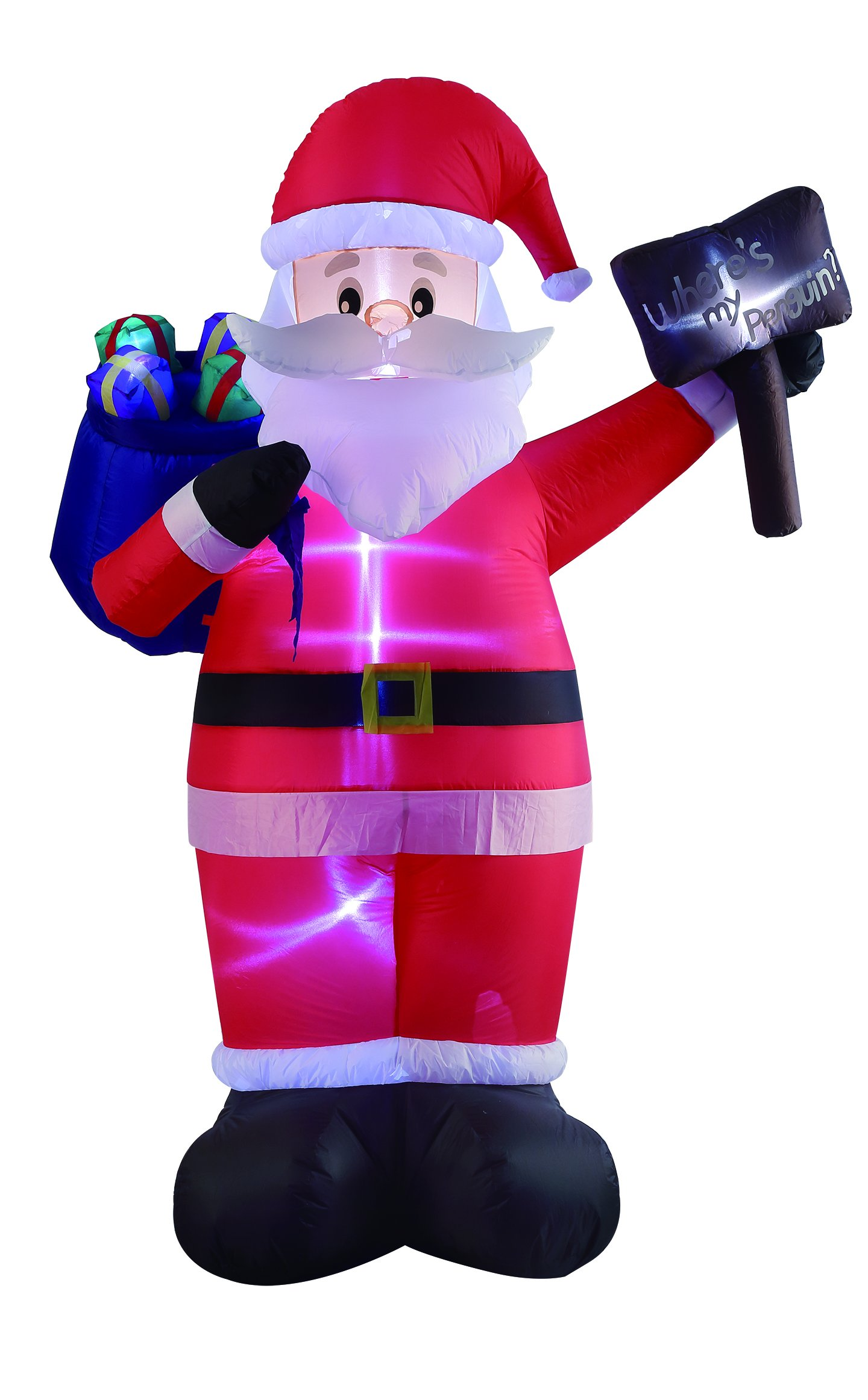 VIDAMORE 8FT Tall Christmas Inflatable Santa with Gift Bag and Sign Lawn Yard Garden outdoor decoration