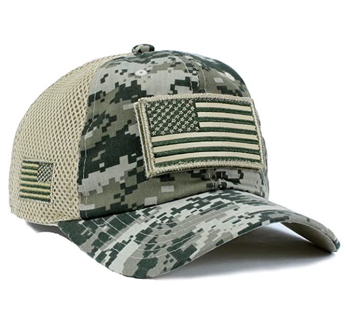 Amazon.com  USA Flag Hat ACU Digital Detachable Patch Micro Mesh ... 598b290262e