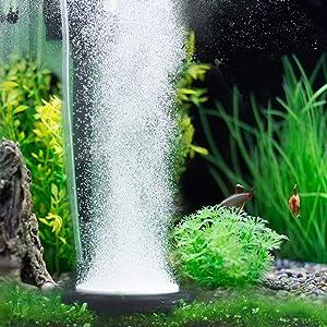 Hygger Aquarium Air Stone, Bubble Stone Fish Tank Oxygen Stone Ultra Silent Deep Dissolving Oxygen Diffuser Kit for Aquarium Fish Tank and Hydroponic