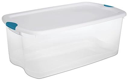 Amazoncom STERILITE 18898004 106 Quart100 Liter Latch Box White