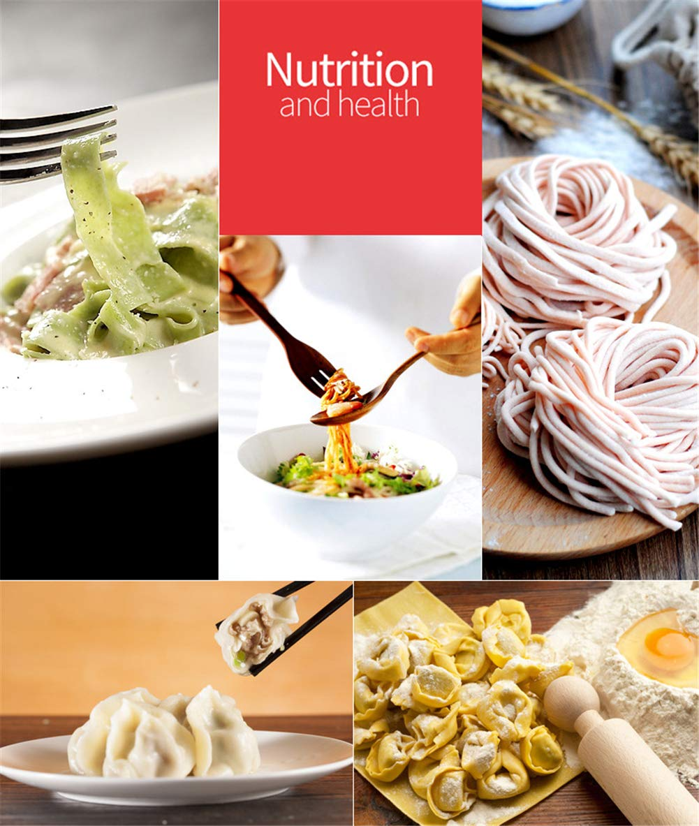CHSEEO M/áquina para Pasta Fresca Prensador para Pasta Acero Inoxidable Cortador de Pasta M/áquina de Rodillos Noodle Maker Fabrica de Fideos Frescos de Masa Tagliatelle de Lasa/ña de Espaguetis #1