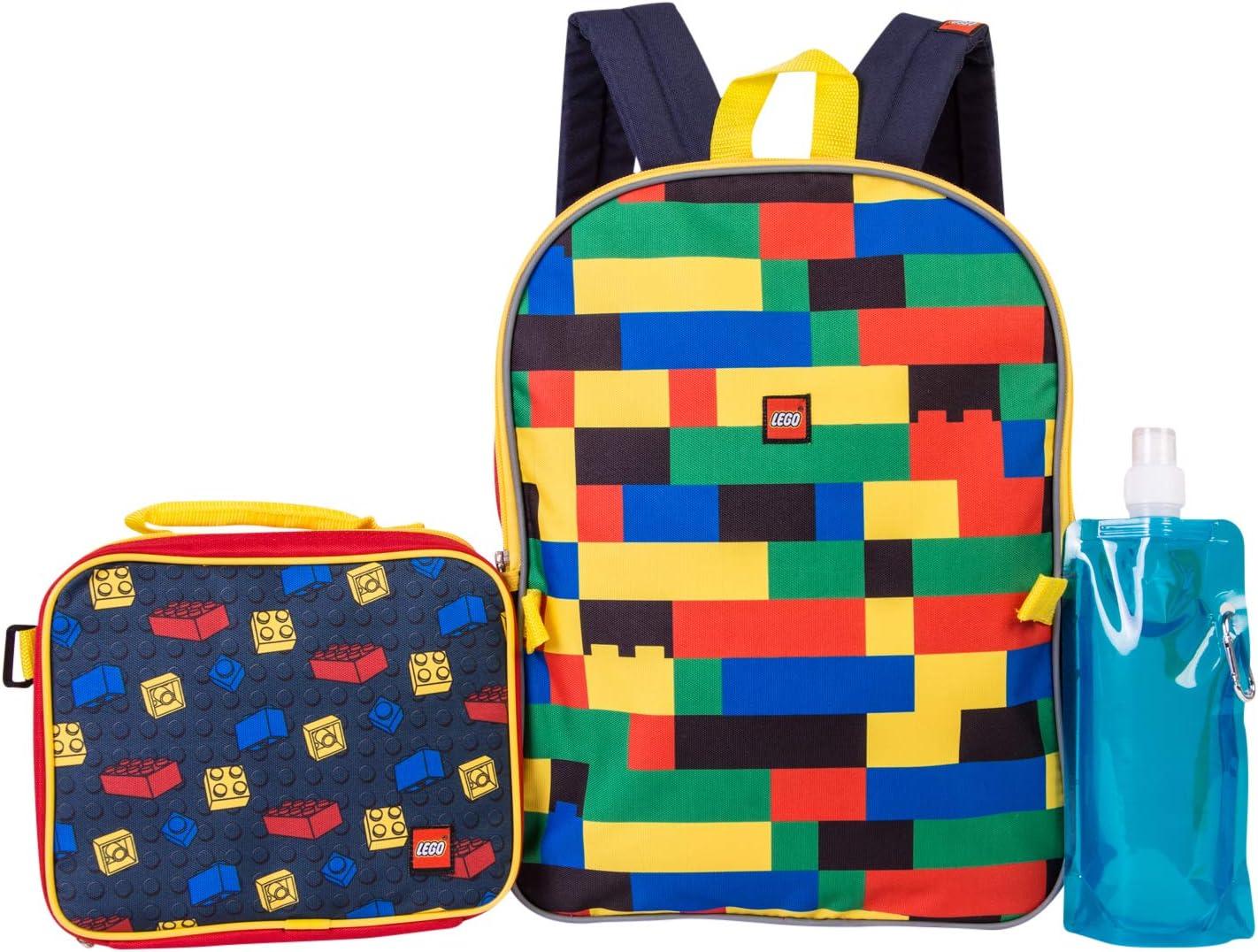 LEGO Batman Backpack Combo Set - Lego Boys' 4 Piece Backpack Set - Backpack & Lunch Kit
